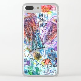 I Lost my Heart to the Ocean Clear iPhone Case