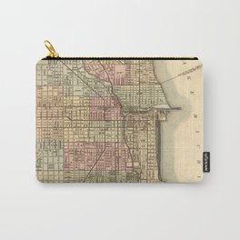 Vintage Map Of Chicago Carry-All Pouch