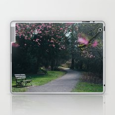 bench and blossoms Laptop & iPad Skin