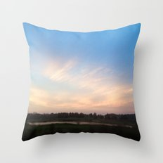 Sunset Drive By Throw Pillow
