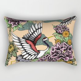 Cranes (Pink) Rectangular Pillow