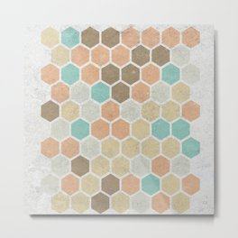 Geometric Maze Metal Print
