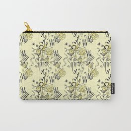 Storybook Kitsch Floral Pattern Carry-All Pouch