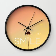 Palm Tree Smile new Hue Wall Clock