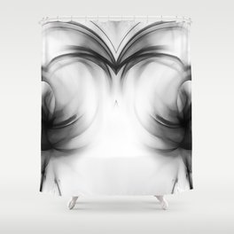 abstract fractals mirrored reacbwi Shower Curtain