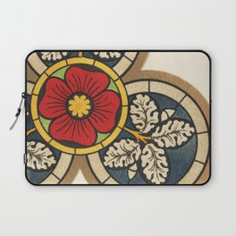 Antique Stained Glass Flower Laptop Sleeve