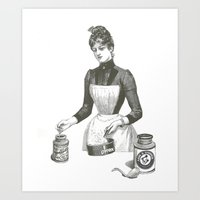 cooking Art Prints featuring Cooking by MICKEY FICKEY GALLERY