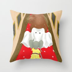 Boo! But Tiny Mouse I Think You Should Look Behind You! Throw Pillow