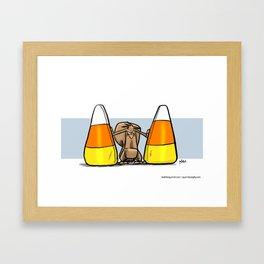 Between the corn Framed Art Print