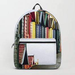 Whitby beach huts Backpack