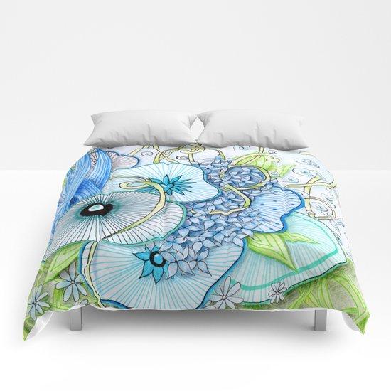 Summer Day Underwater Comforters