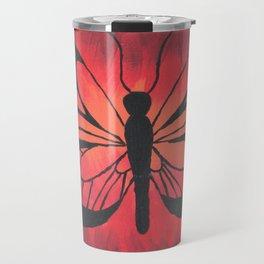 Butterfly Acrylic Painting Travel Mug