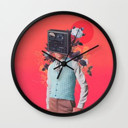 Phonohead Wall Clock