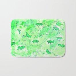 Watercolor Tardigrade Illustration Bath Mat