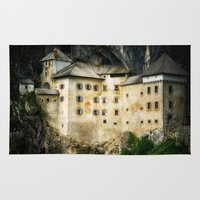 castle Area & Throw Rugs featuring Castle by DistinctyDesign
