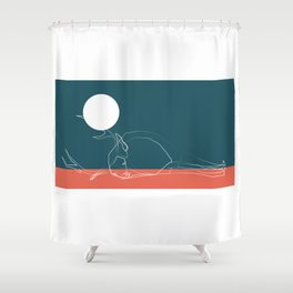 deer sky pt.1 Shower Curtain