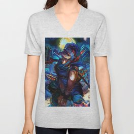 Blue Assasin Unisex V-Neck