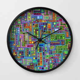 Tiled City Wall Clock