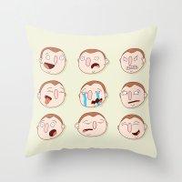 boys Throw Pillows featuring Boys by Pedro Vilas Boas