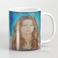 jennifer lawrence Mugs featuring Jennifer Lawrence by Jenn
