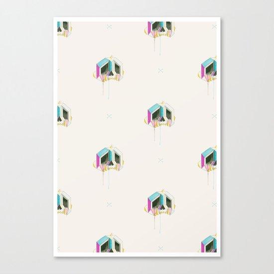 Sabertooth-Unicorn-Diamond-Skull Wallpaper Canvas Print