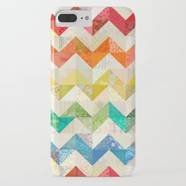 Chevron Rainbow Quilt iPhone Case
