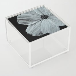 Black & White Cosmos Flower Illustration Acrylic Box