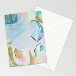 Hands On // Blue original abstract  Stationery Cards