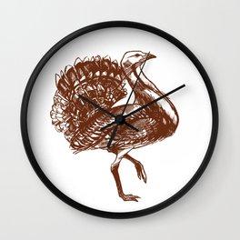 Great bustard (Otis tarda) Wall Clock