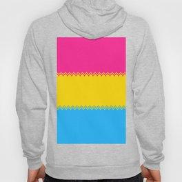 pixel pride- pansexual pride flag Hoody