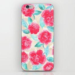 Cottage Peonies Pink iPhone Skin