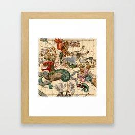 Constellation Chart 1693b Framed Art Print