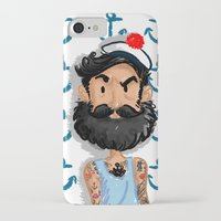 navy iPhone & iPod Cases featuring Navy by Mailys Brau