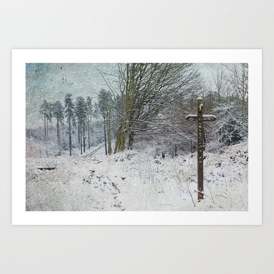 Path in the Snow Art Print