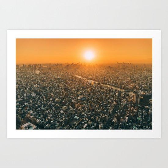 City and the sky Art Print