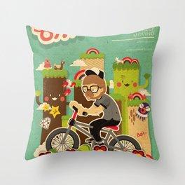 Mr.Bongo Cycling Throw Pillow