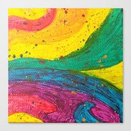 Rainbow Abstract #6 Canvas Print
