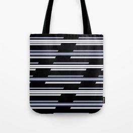 Skewed Stripes Pattern Design Tote Bag