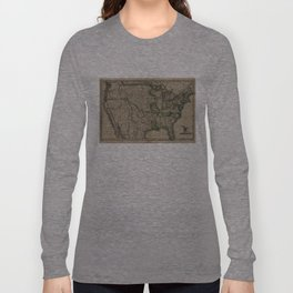 Vintage Map of The United States (1823) Long Sleeve T-shirt