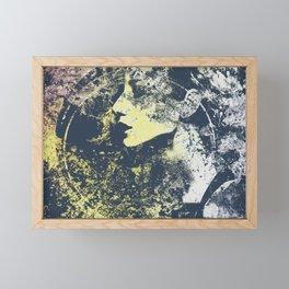 Third Stone From The Sun II   graffiti female portrait Framed Mini Art Print