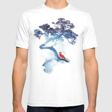 The last apple tree White Mens Fitted Tee MEDIUM