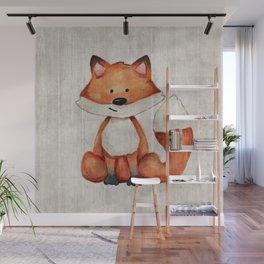 Little Fox, Baby Fox, Baby Animals, Forest Critters, Woodland Animals, Nursery Art Wall Mural