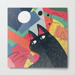 Trumpet Cat Metal Print