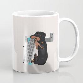 Attack of the Enormous Dachshund!!! Coffee Mug