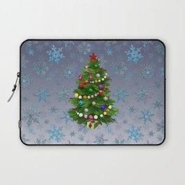 Christmas tree & snow v.2 Laptop Sleeve
