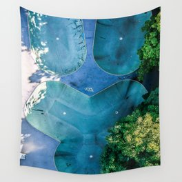 Skatepark - Aerial Photography Wall Tapestry