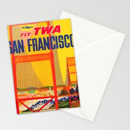 retro San Francisco old psoter Stationery Cards