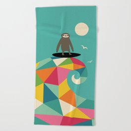 Surfs Up Beach Towel