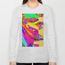 Rainbow Abstract Daisy Long Sleeve T-shirt