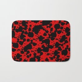 Bright Red and Black Funny Leopard Style Paint Splash Pattern Bath Mat